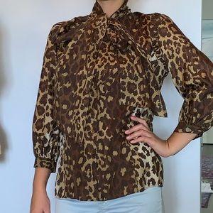 NWOT 100% silk Lafayette 148 blouse